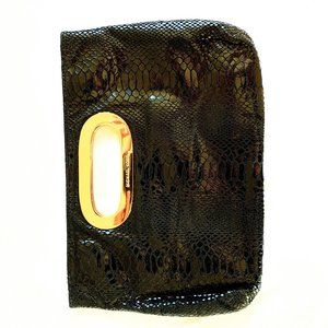 Michael Kors Snake Skin Leather Clutch